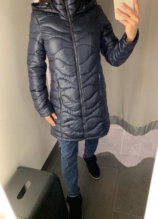 Стеганое демисезонное пальто куртка amisu