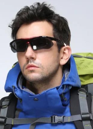Спортивные очки с фотохромной линзой хамелеон 0763