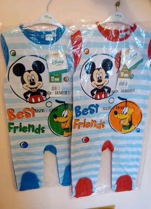 Disney сток бодики, пижамы,человечки