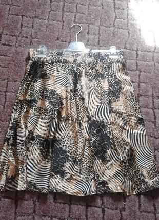 Летняя атласная юбка