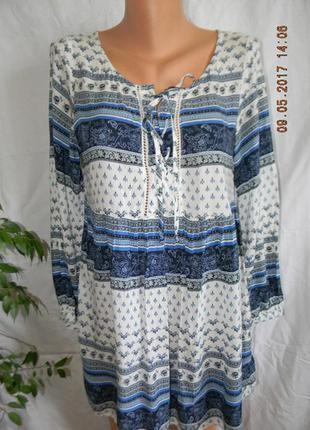 Натуральная блуза с принтом h&m
