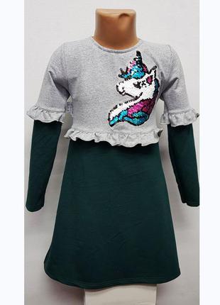 Платье для девочки трикотажное 7181