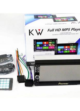 Автомагнитола 2Din Pioneer 7019 USB + Bluetooth + Пульт на руль