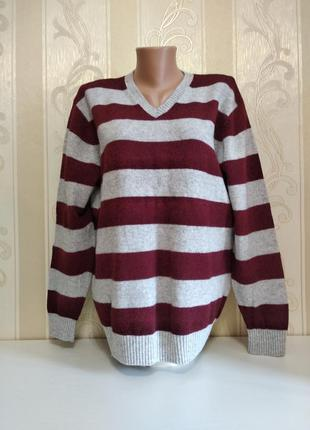 Новая красивая кофта, пуловер, 100% шерсть, authentic
