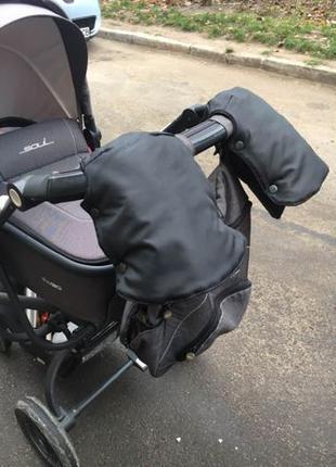 Цена актуальна Муфта раздельные варежки зимние для рук на коляску