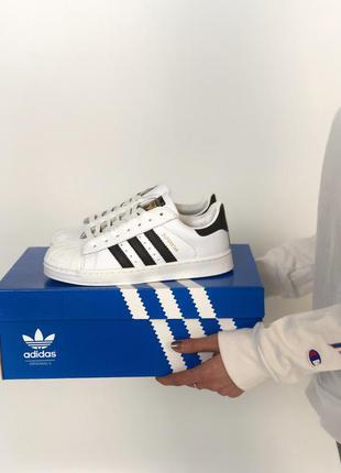 🔥 adidas superstar white black🔥мужские демисезонные кроссовки ...