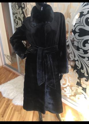 Норковая шуба эксклюзив select black номерная, норковое пальто...