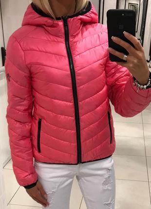 Весенняя куртка с капюшоном стёганая курточка. amisu. размеры ...