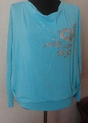 Блуза цвет бирюза  enny польша