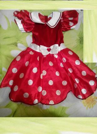 Карнавальный костюм Минни Маус для девочки 3 - 4 лет