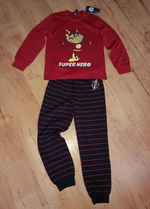 Пижама детская, домашний костюм супер герой на 8-10 лет