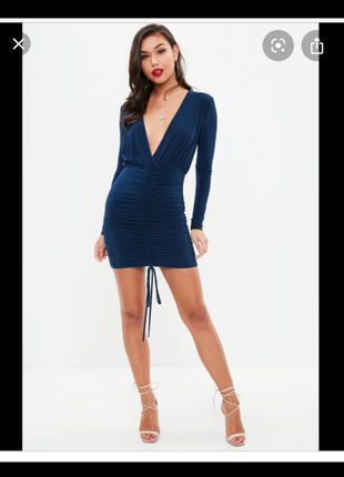 Платье мини с рукавом микромасло