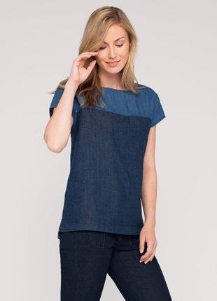 Новая джинсовая блузка yessica германия