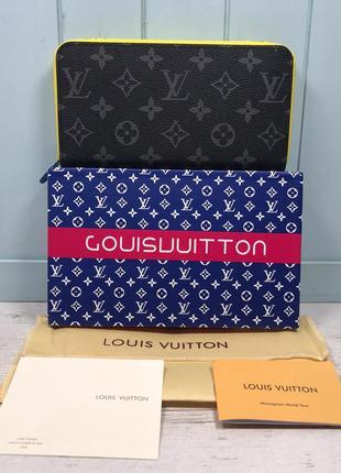 Женский кошелек клатч на молнии жіночий гаманець Louis Vuitton LV