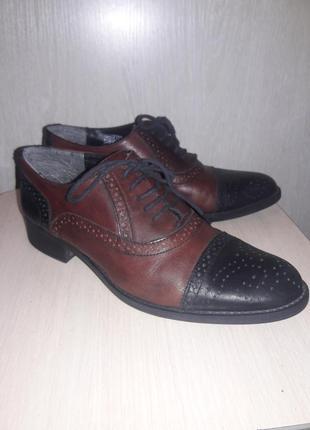 Кожаные стильные туфли benvenuti.#розвантажуюсь