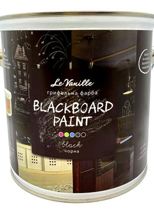 Грифельная краска Le Vanille Blackboard Paint черная 2,5 литра
