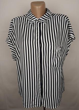 Блуза рубашка вискозная красивая в полоску marks&specner uk 14...