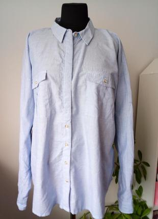 Трендовая натуральная рубашка 22 р от next