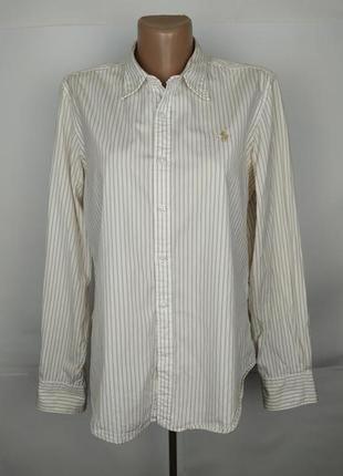 Блуза рубашка хлопковая модная в полоску оригинал ralph lauren...