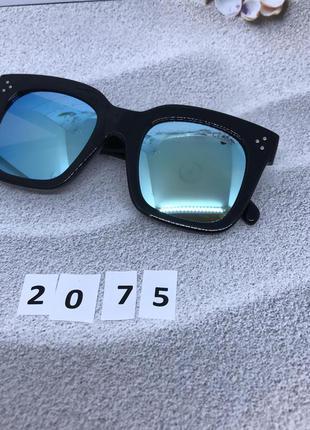 Солнцезащитные очки маска голубые к. 2075
