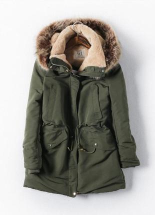Новая фирменная зимняя парка/куртка zara trf