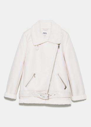 Куртка/дубленка на подкладе меховой zara