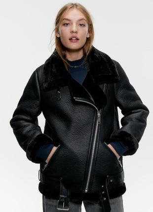 Куртка косуха на меху zara