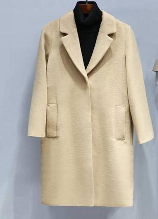 Прямое пальто h&m
