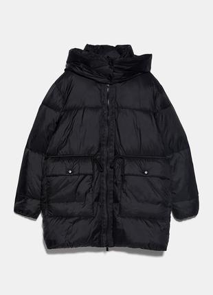 Стеганая куртка из водонепроницаемой ткани zara