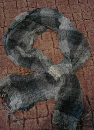 Красивый тонкий шарф шерсть