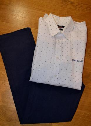 Рубашка piere carden /regular fit разм l оринг. хлопок