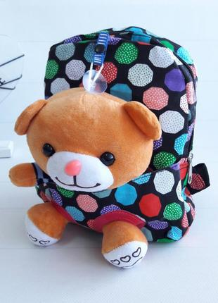 Рюкзак с игрушкой мишка