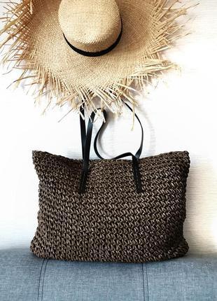 Пляжна сумка • плетёная пляжная сумка