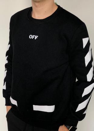 Черный свитшот off-white - кофта