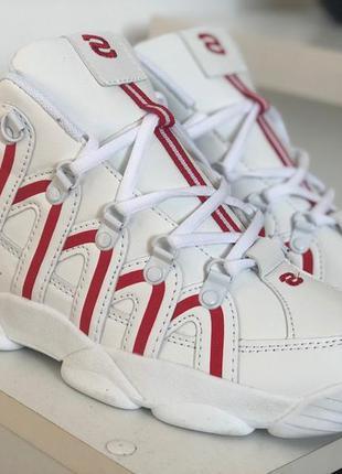 Мужские высокие белые кроссовки на высокой подошве