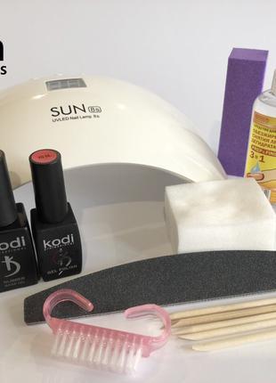 Стартовый набор для маникюра и покрытия гель-лаком Kodi с лампой