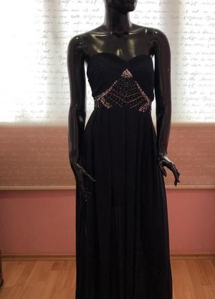 Платье в пол, нереальное, шифоновое, размер s