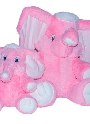 Мягкая игрушка. Слон розовый