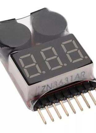 Сигнализатор разряда аккумулятора (1S-8S Li-Po, Li-ion Cell) П...
