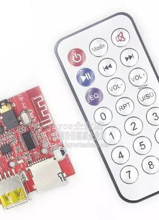 Bluetooth звуковой модуль mp3, декодер, Micro SD / USB + Пульт
