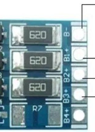 Плата балансировки аккумуляторов Li-Ion, LiFePO4 2S/3S/4S/5S/7S