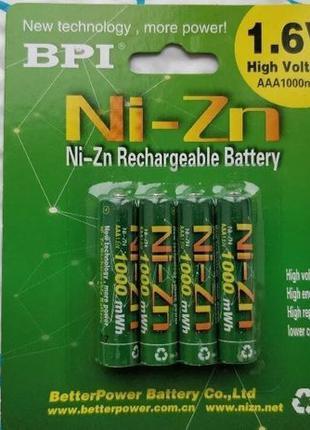 Аккумулятор BPI 1.6V Ni-Zn AA 2500 mWh   AAA 1100 mWh / Зарядк...