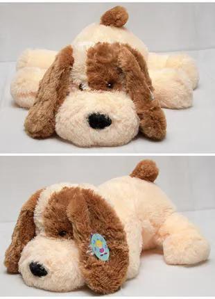 Мягкая игрушка. Собака «Шарик» белый, медовый, персиковый, коричн