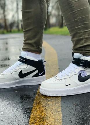 Кроссовки высокие натуральная кожа Nike Air Force Найк Аир Форс