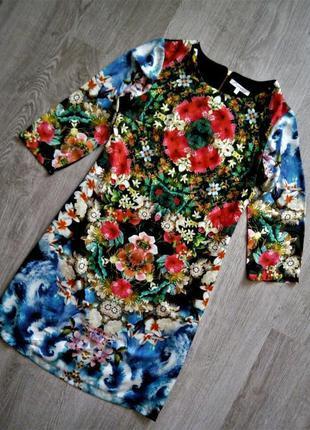 Красивейшее прямое платье в цветочный принт😍