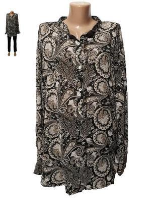 Свободная рубашка -блузка,коллекция h&m больших размеров