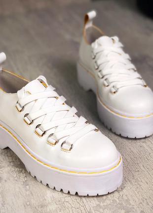 36-40. трендовые кожаные туфли на шнурках броги на массивной п...