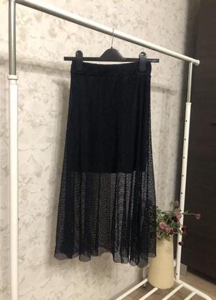Миди юбка сетка италия, новая!