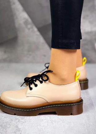 36-40. трендовые кожаныеые туфли на шнурках броги мартинсы