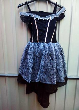 Карнавальный костюм для девочки  9 - 10 лет платье со шлейфом